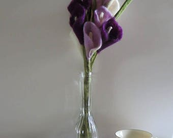 Bouquet, Wool Felted Calla Lilies