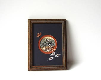 Retro Framed Floral Art