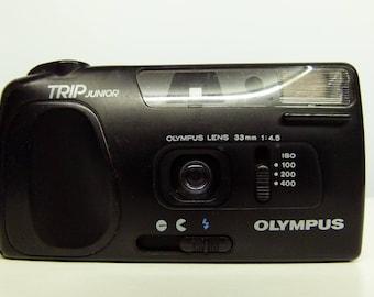 Olympus Trip Junior Compact 35mm Film Camera - 1990s Retro Camera