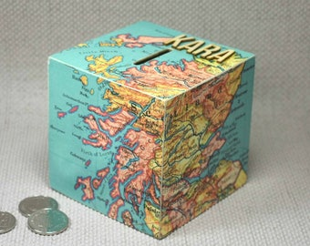 Personalised Scotland Map Money Box, Travel Fund, Wanderlust Gift, Scotland Gift, Piggy Bank, Adventure Fund, Christmas, Free Gift Wrapping!