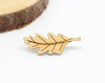 Oak Leaf Brooch | Laser Cut Nature Jewellery