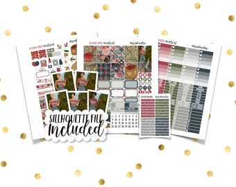 AUTUMN APPLES Weekly Kit // Printable Planner Stickers / Erin Condren Plum Paper Happy Planner Filofax Inkwell Press Floral Fall Autumn