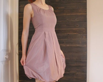 Bubble dress, balloon dress, pink dress, sleeveless dress, midi dress, coquetail dress, dress size 8 Us, dress size 40 Eur