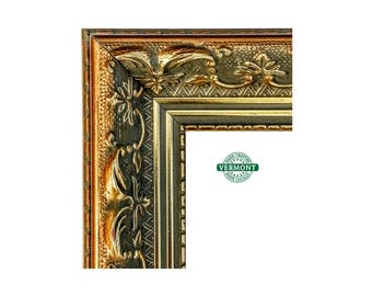 French Ornate Gold Picture Frame, Antique Gold Finish, Real Wood, Photo Frame Gold, Gesso 3x5,5x7,8x10, 11x14 16x20,17x20,23x27,24x20...