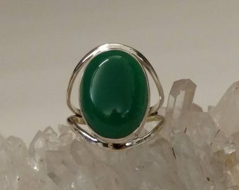 Green Onyx Ring, Size 9 1/2