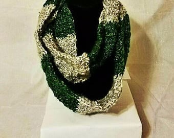 Green and Silver Infinity Scarf
