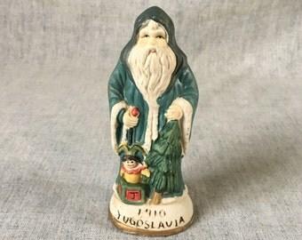 Vintage Santas From Around the World Yugoslavian Santa Figurine