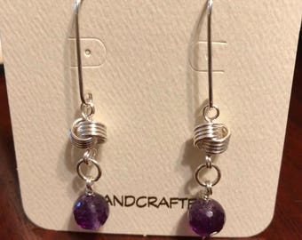 Amethyst Love Knot Earrings