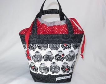 Medium Knitting Project Bag // Alyson Mini Tote // Wool Ewe Be Mine?