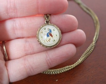 1970s Double-Sided Rooster Necklace