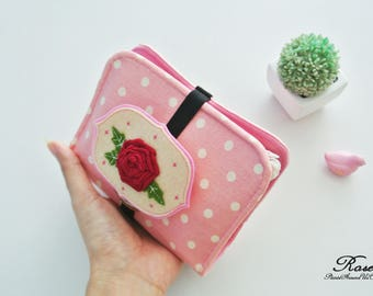 English Rose Charger & Cable Storage, Cellphone Charger Holder, USB Cable Case, Traveller Gadget Organizer, Cable Holder - Made to Order