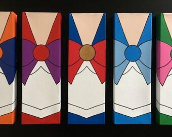 Sailor Moon Canvas Paintings Set (5; Moon, Mercury, Mars, Jupiter, Venus)