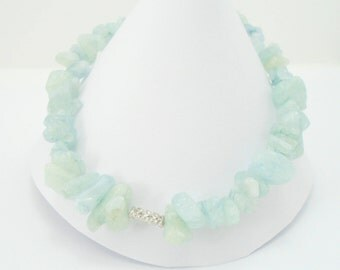 Raw Aquamarine Bracelet, Beaded Aquamarine Bracelet, Raw aquamarine Dainty Bracelet, Raw gemstone Bracelet, Natural Aquamarine Bracelet