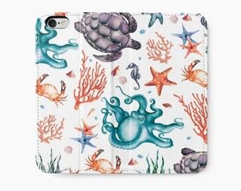 iPhone 6 Wallet, iPhone 6s Wallet, iPhone 6 Plus Wallet, iPhone 6s Plus Wallet, iPhone Wallet, Nautical iPhone Wallet Case, Girlfriend Gift