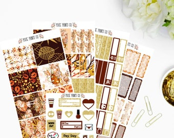 Cozy Autumn Planner Sticker Kit, for use with Erin Condren, Life Planner, ECLP, Mambi, Happy Planner, Create 365, Stickers