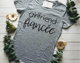 FIANCE SHIRT, ENGAGED Af, Fiance, Girlfriend Fiance Shirt, Engagement Gift, Engaged Tshirt, Resting Bride Face, Fiancee, Bachelorette Shirts