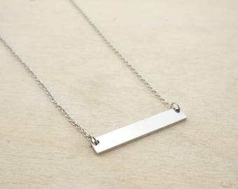 Stainless Steel Bar Necklace - Stainless Steel Stamping Bar - Stainless Steel Bar Blank - Stainless Stamping Blank