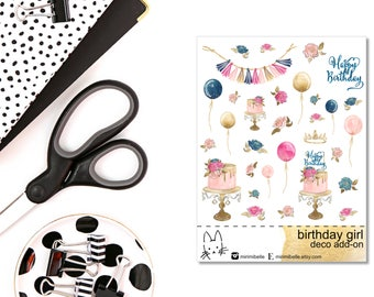 Birthday Girl - ADD-ON Deco Sticker