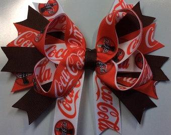 Coca Cola Hair Bow