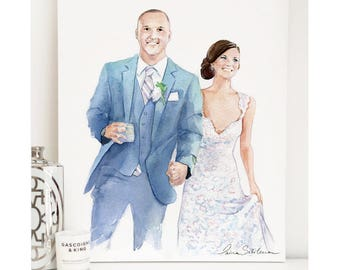 Wedding Portrait, Custom Wedding Portrait, Couple illustration, Couple Portrait, Custom Couple Portrait, Custom paper Anniversary Gift