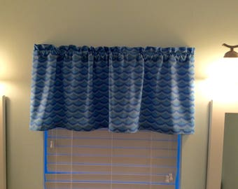 Window Valance-Mermaid Valance-Beach Valance-Lake Valance-Tropical Valance-Kitchen Curtains-Nautical Valance-Mermaid Curtains