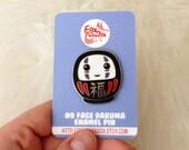No Face pin, as a Daruma doll - Spirited Away, Miyazaki, Ghibli, kaonashi, pins, cute, kawaii, geek