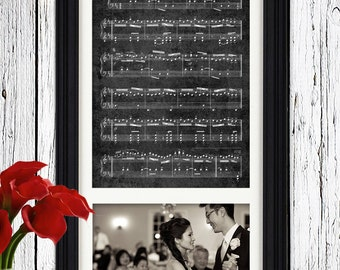 Wedding Picture Sheet Music First Dance Wedding Song First Anniversary Gift Wedding Song Lyrics Paper Anniversary Picture Framed Sheet Music