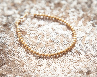 Beaded Bracelet, Minimal Bracelet, Thin Gold Bracelet, Layering Bracelet, Everyday Jewelry, Hematite Bracelet, Gold Gemstone Beaded Bracelet