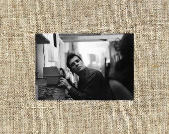 Jack Kerouac photograph, Kerouac black and white photo print, beatniks vintage photograph, famous writers, iconic authors, beat generation