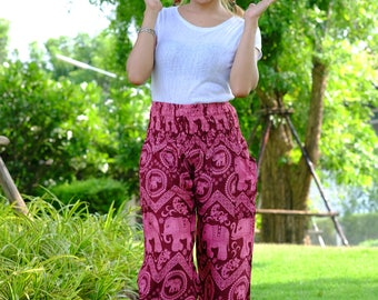 Hippie pants harem pants elephant pants cozy pants boho pants red