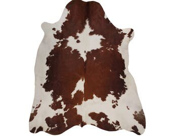 Cowhide Rug - Natural Cowhide Rugs - Brown and White Cowhide Rug