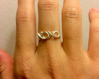 xoxo Ring - 14K Gold /Rose Gold-Filled /Sterling Silver -Hugs and Kisses Love xo -Couples Girlfriend Wife -Adjustable