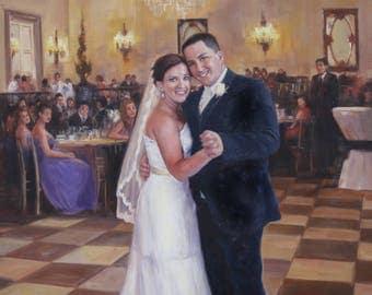 Cotton Anniversary Gift. 2nd Anniversary Gift for Wife. Cotton Gift for Wife. Second Anniversary Painting on Canvas. Wedding Portrait Art