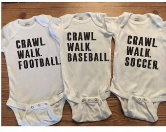 Sports Onesies, Funny Baby Onesies, Football Onesies, Soccer Onesies, Baseball Onesies, Basketball Onesies, Hockey, Futbol, Baby Boy Onesies