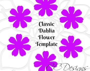 Paper flower template, paper flower tutorial, DIY paper flower pattern, flower template, paper flower bouquet, DIY flower patterns