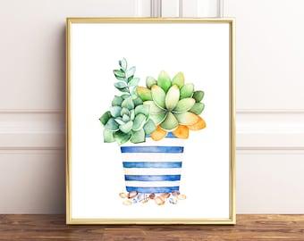 Succulent Print, Succulent Plants, Succulent Gifts, Succulent Wall Art,  Succulent Poster,