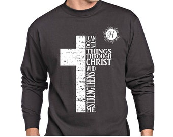 Philippians 4:13 I can do all things through Christ who Cross,distressed svg SVG dfx  Scripture svg, Christian svg, Commercial use