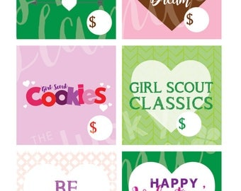 Girl Scout Cookie Bundle Tags- Printable- Instant Download