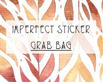 Imperfect Sticker Grab Bag (10 Sticker Sheets) || SeattleKangarooPlans