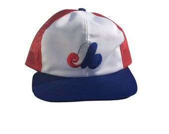 Vintage Montreal Expos Hat - 80s Montreal Expos Hat - Vintage Montreal Expos Trucker Hat - Vintage Expos Hat - Vintage Expos Trucker Hat