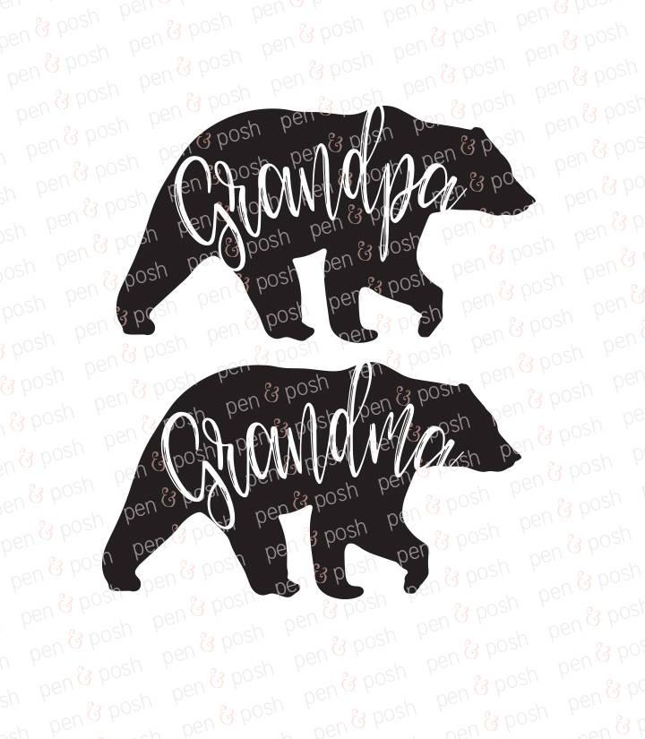 Grandma Svg Grandpa Svg Mama Bear Svg Papa Bear Svg