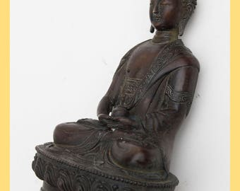 TIBETAN BUDDHA - Bronze Buddha Figure, From Tibet, East Asia
