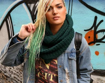 Set of ombre DE dreads. For blonde green hair accessories extensions double ended dreadlocks
