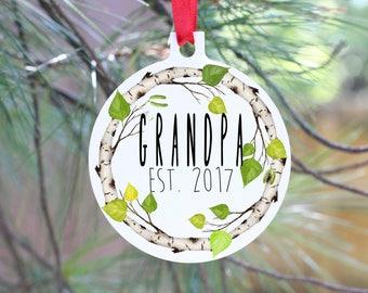 Ornament, Christmas Ornament, Grandpa Ornament, Grandpa Gift, Poppop Ornament, Dad Gift,  Christmas Pregnancy Announcement, Grandpa to Be