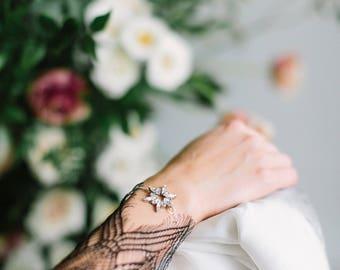 ANDROMEDA glam art deco star wedding bracelet, crystal vintage inspired wedding bracelet