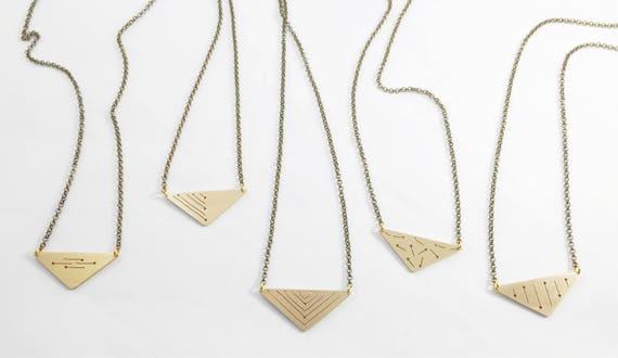 Triangle Pendant- Brass