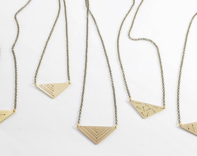 Triangle Pendant- Brass