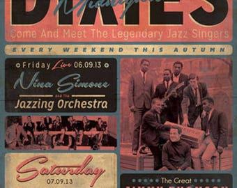 The Dixies Poster A3 or A4 Matt