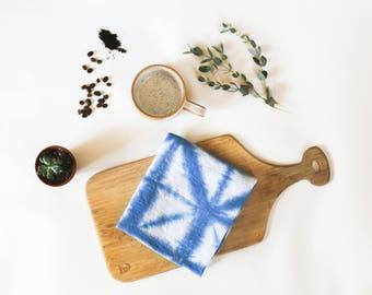 Tea Towel Set- in DIAMOND / Indigo Tea Towels / Kitchen linens / Tea towels / Hostess gift / Large tea towels - Portland OR