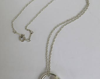 Vintage Tiffany & Co Elsa Peretti Eternal Circle Pendant Necklace - 925 Sterling Silver